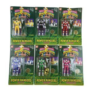 1994 MMPR Auto Morph  Bandai Complete 6 Sealed